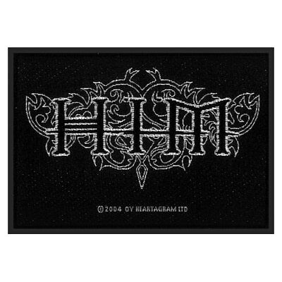 HIM Classic Logo Official Black Rectangle Sew On Woven Patch Rock Metal