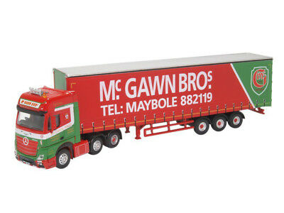 Oxford 76MB007 00 LKW Mercedes Actros GSC Curtainside McGawn Bros