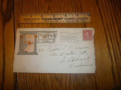 1916 Envelope Prince George Hotel New York Ny Bessie Brown Elkhart Indiana Empty