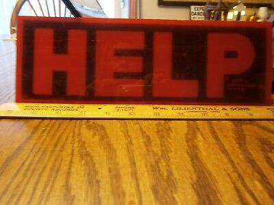 1960's Vintage Judy Distress Signal Help Sign Lens Red 11 Inch Estate Find Rare