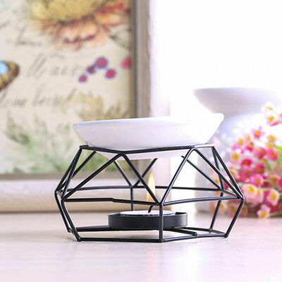 Stylish Stainless Steel Oil Burner Candle Aromatherapy Oil Lamp Home Decor Aroma