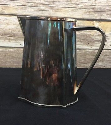 BEAUTIFUL Vintage MODERNIST Silver Plated ST JAMES of BRAZIL  PITCHER