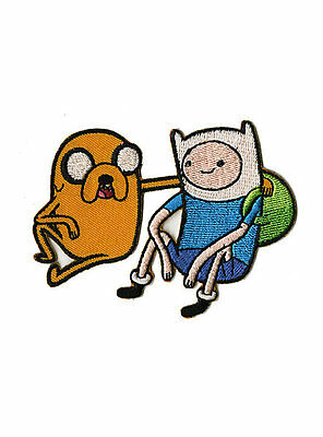 Adventure Time Finn & Jake Patch Embroidered Iron On/Sew On Patch