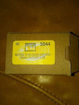 Metric Threaded Inserts 10mm thread size 10 in the package 5944