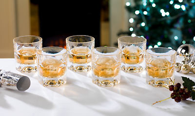 Provenza 18.5CL Quality Crystal Whisky Glasses - Set of 6