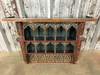 Vintage Wall Shelf Moroccan Hand Painted