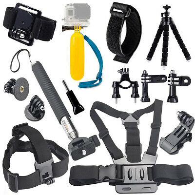 Action Camera Case Head Chest Strap Selfie Stick for Eken H9 for Gopro Xiaomi yi