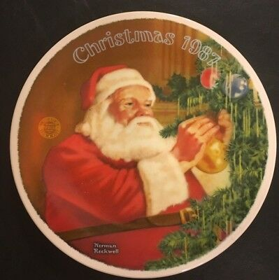 "Norman Rockwell Christmas 1987 Plate ""Santa's Golden Gift"", Limited Edition"