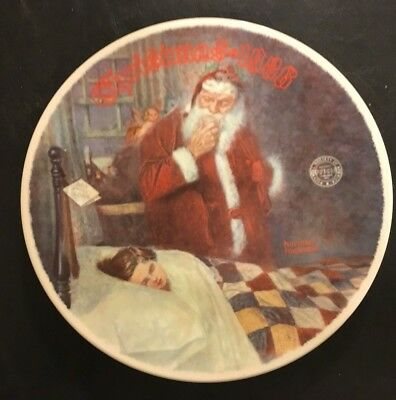 "Norman Rockwell Christmas 1986 Plate ""Dear Santy Claus"", Limited Edition"