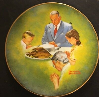 1980 Norman Rockwell Giving Thanks American Family Series 2 Marshall L Stoltz