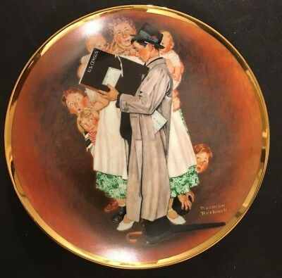 """Norman Rockwell Vintage Plate """"The Census Taker"""" 1984"""