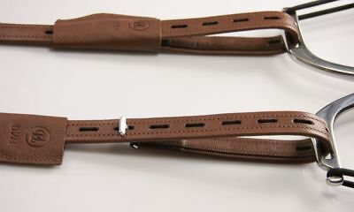 """140cm= 55/"""" SOFT STIRRUP LEATHERS TMD non-stretch calfskin with nylon TOP!"""