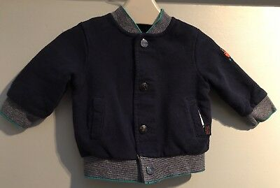 TED BAKER Baby Boys Reversible Coat 3/6 (big Fit) Only Worn Twice Rrp £28