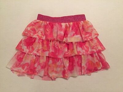 Girls 10/12 Skirt Pink Ruffled Tiered Childrens Place