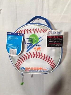 NWT Arctic Zone Baseball Lunchbox With Microban School Snack/ Lunch