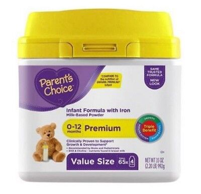 Parents Choice Premium Neuro Complete Infant Powder Formula 35 oz 12/18/2018