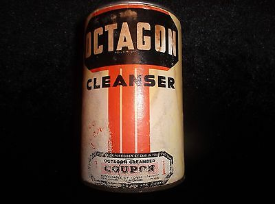 Old Collectible Antique Vintage Octagon Cleanser Advertising Cans Canisters
