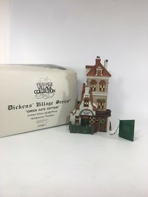 Dept 56 Dickens Village - Green Gate Cottage - Limited Edition #8,361/22,500