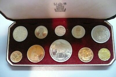 1953 Great Britain Queen Elizabeth II Coronation GEMProof 10 Coin Royal Mint Set