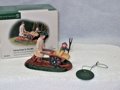 Dept. 56 Dickens' Village Accessory ~ Taking Grain To The Mill # 58545