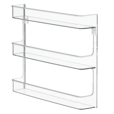 Wall Mount Nail Polish Storage Rack Bathroom Bedroom Organizer Clear w Sleeves