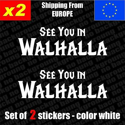 Set Of 2 Viking Walhalla Vinyl Sticker Decal Aufkleber Car