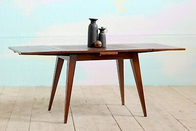 Antique Vintage Art Deco Modernist Extending Kitchen Dining Refectory Table