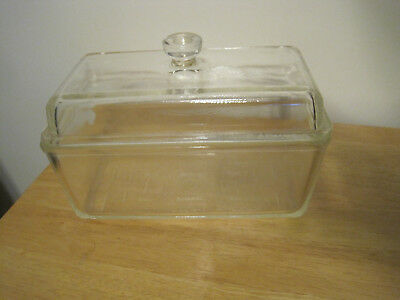 Vintage Clear Westinghouse Glass Refrigerator Dish Loaf Pan With Lid