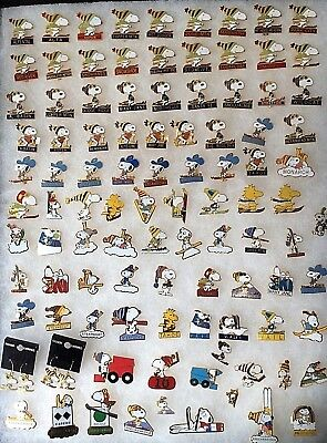 Vintage AVIVA Peanuts Snoopy Woodstock Snow Skiing 100 Jewelry Sport Pin Resorts