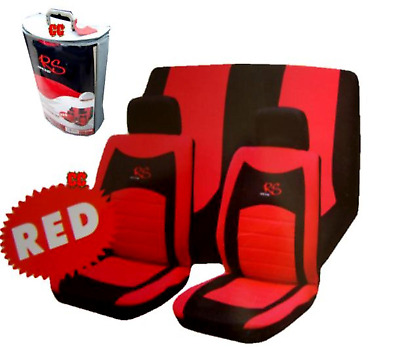 Red & Black RS Seat Cover Full Set For NISSAN QASHQAI 2007ON