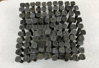 Vintage railroad tie pole date square nails - lot of 100