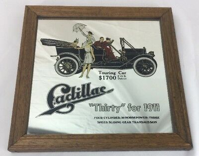 """Rare Vintage """"Thirty"""" for 1911 Cadillac Mirror Advertising George Nathan Assoc"""