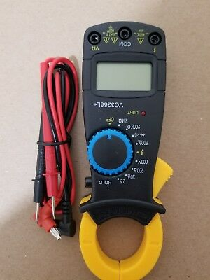 Portable Digital Clamp Multimeter AC DC Volt Voltage Amp Electronic Tester