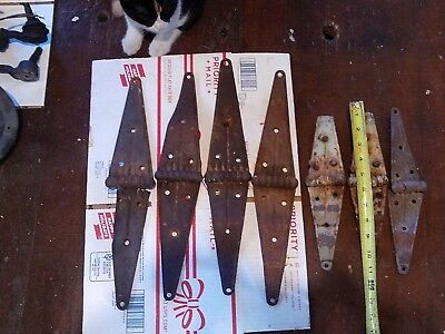 Vintage  Hinges Barn Door Gate Rustic Primitive Strap Hinge Old 16 inches LOT 7