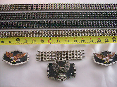 Vtg 70s 80s Easy Rider Primary Chain Motorcycle Biker Belt 3 Row (ALL 4 BELTS)
