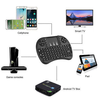 Wireless Mini Keyboard i8 Air Mouse Keypad Remote Control Android Tv Box Black