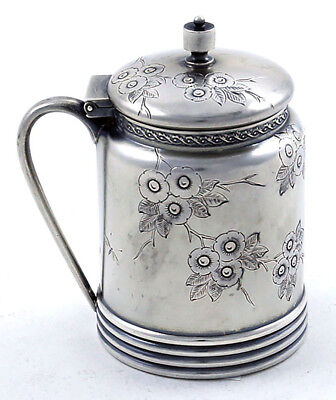 GORHAM Sterling AESTHETIC MUSTARD POT Butterflies