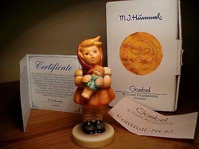 Vintage Goebel Hummel #239/b Girl With Doll Figurine In Box