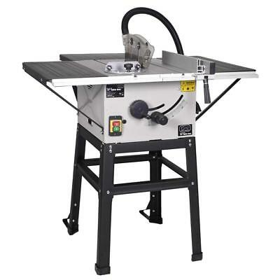 """Woodworking 10"""" Table Saw Inc Stand Mitre Guide Bed Push Stick Portable 240V"""