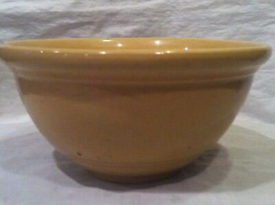 """H-T-F Small Vintage Yelloware Mustard Yellow Mixing Bowl 3"""" Tall by 6"""" Wide"""
