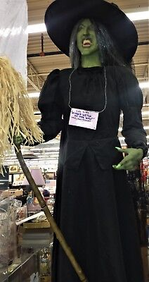 Life Size Wizard of Oz Wicked Witch of the West Talking Animated Halloween Prop