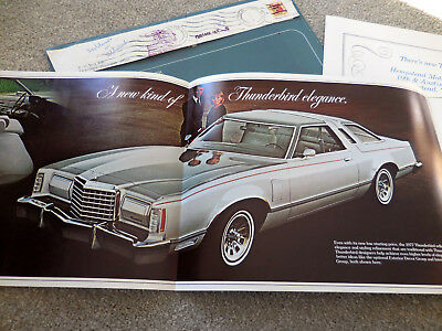 Original 1977 Ford THUNDERBIRD Mailer w/ envelope catalog brochure mint scarce