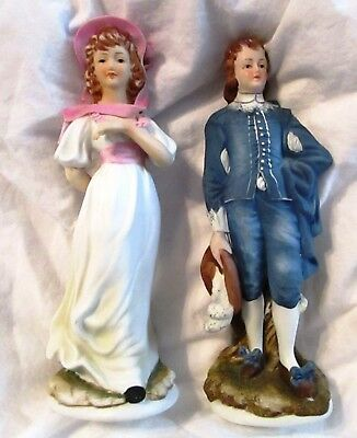 Vintage Lefton Limited Edition Blue Boy And Pinkie KW387 Collectibles