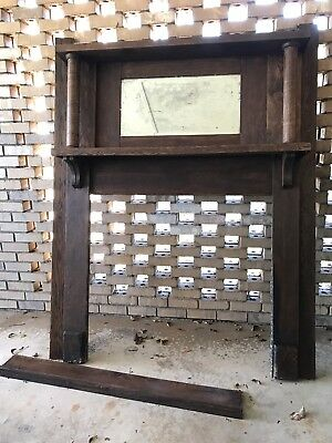 Antique Mantle With Mirror