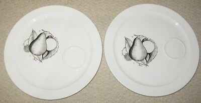 Susie Cooper plates 2 White and black Vintage Bone China Perfect condition
