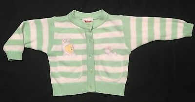 Baby Girl's Disney Winnie The Pooh Easter Sweater 3 Mos.