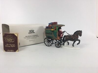 Dept 56 Dickens THE FEZZIWIG DELIVERY WAGON 58400 Christmas Carol Revisited