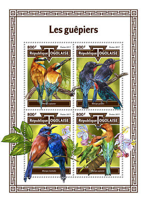 Z08 IMPERF TG17613a TOGO 2017 Bee-eaters MNH ** Postfrisch