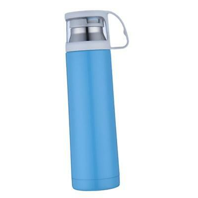 1pc 500ml Vacuum Insulated Flask Thermal Sports Water Bottle Hot/Cold Blue