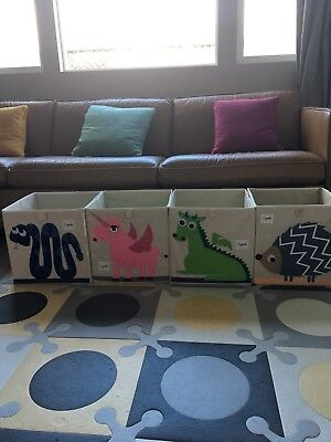 lot of 4  3 sprouts storage box